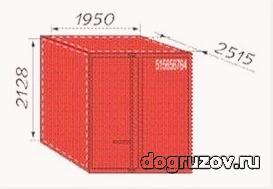 Контейнер 5 тонн размеры позволяют перевозить много груза.