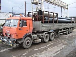 перевозка труб автомобильным транспортом